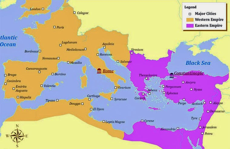 Daniel 10 11 prophecy revolution for jesus 085 eastern western roman empires map gumiabroncs Gallery