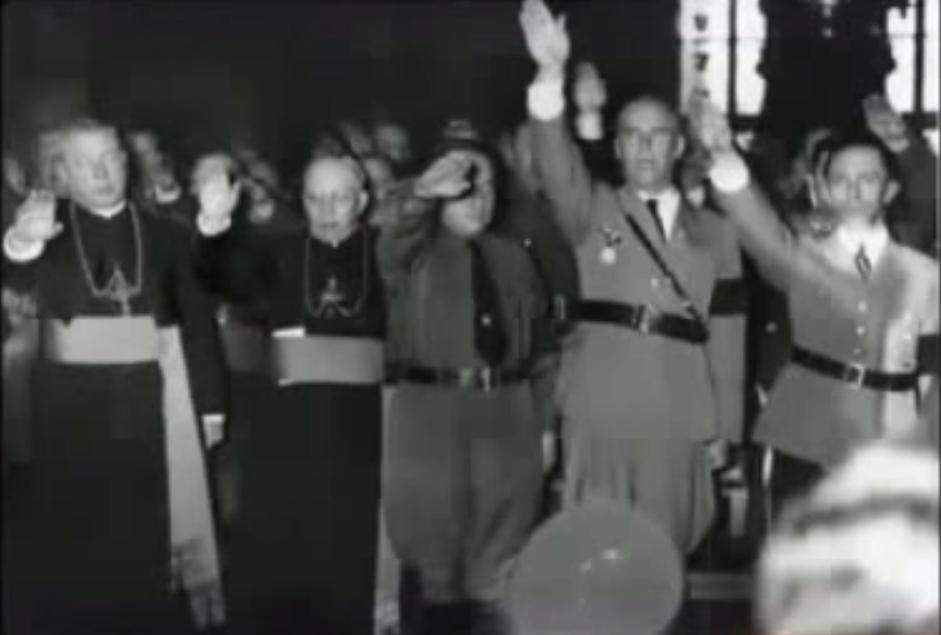 Collusion with the Nazi Germany. Millions of Catholics and Jews were killed and many Christians for helping them
