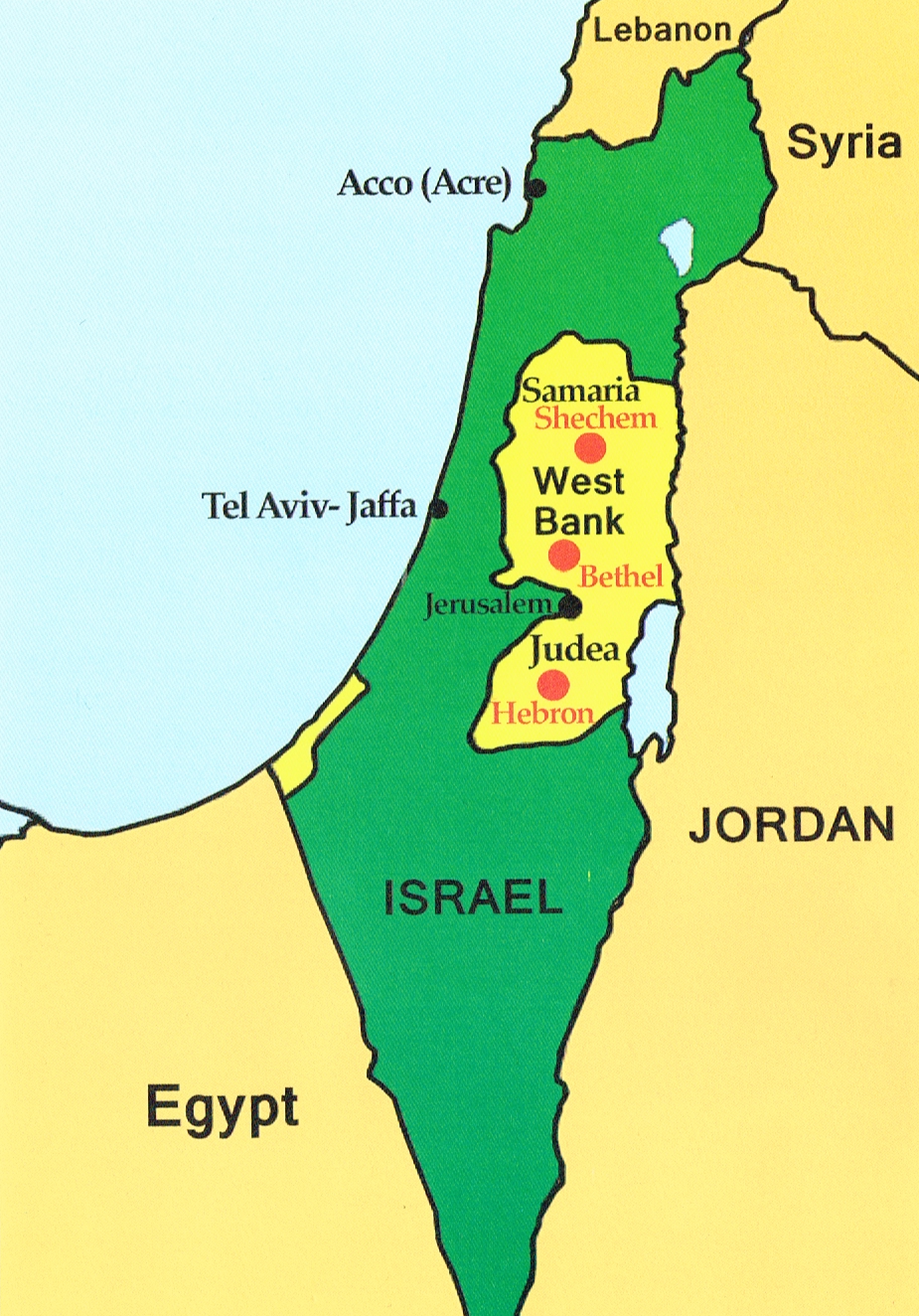 Map Israel Revolution For Jesus - Isreal map